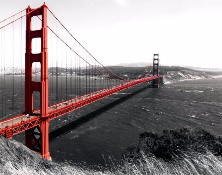 3D Фотообои «Золотые ворота Сан-Франциско»<br>kit: None; gender: None;