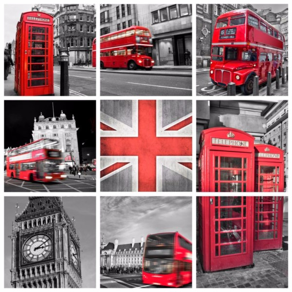 3D Фотообои «Лондон коллаж»<br>kit: None; gender: None;