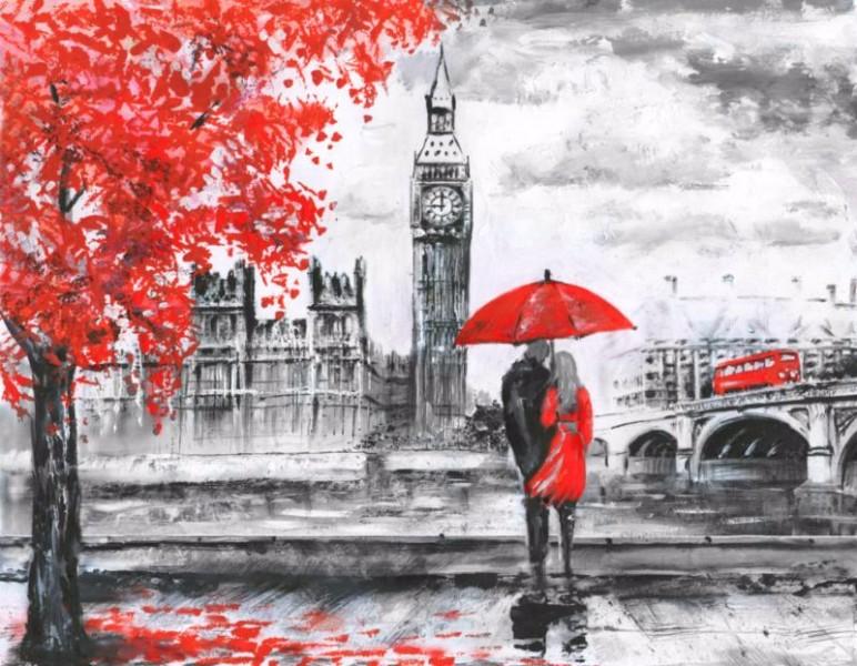3D Фотообои «Романтика Лондона»<br>kit: None; gender: None;