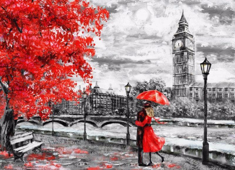 """Фотообои """"«Романтичный осенний Лондон»"""""""