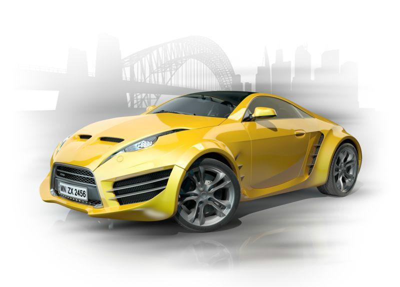 3D Фотообои «Концепт автомобиля»<br>kit: None; gender: None;