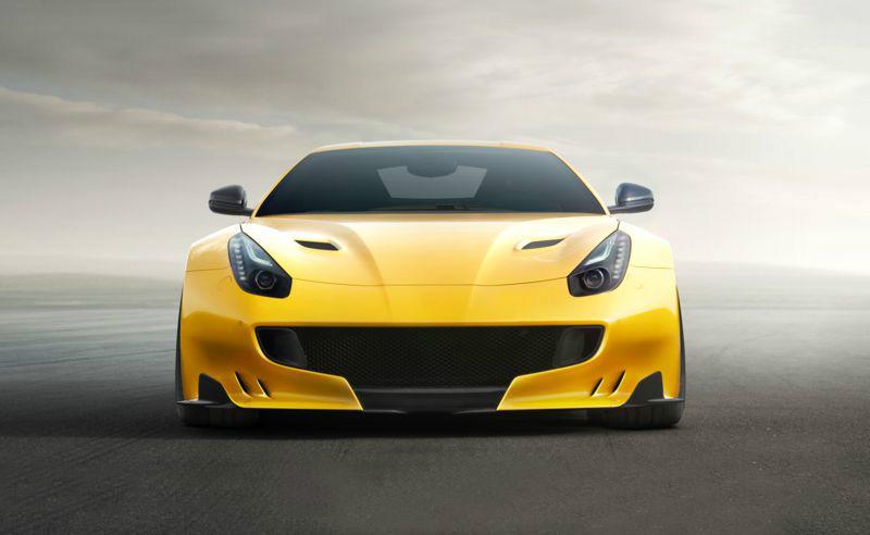 3D Фотообои «Желтый спортивный автомобиль»<br>kit: None; gender: None;
