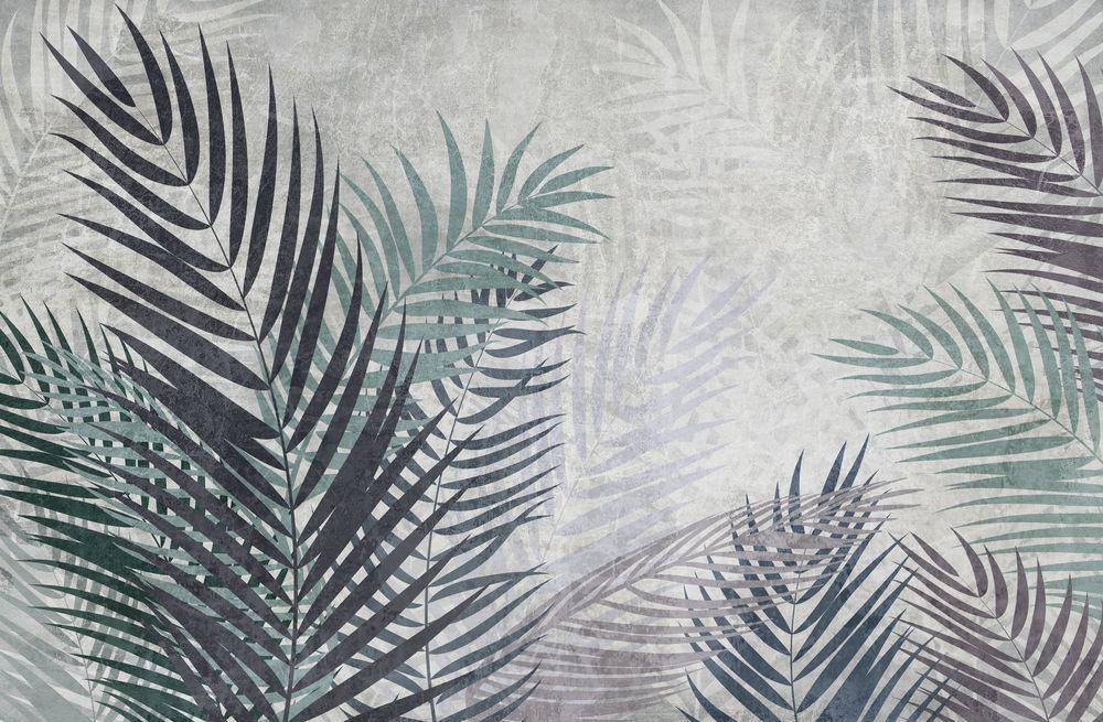 3D фотообои 3D Фотообои «Листья пальмы в сдержанных тонах» вид 1