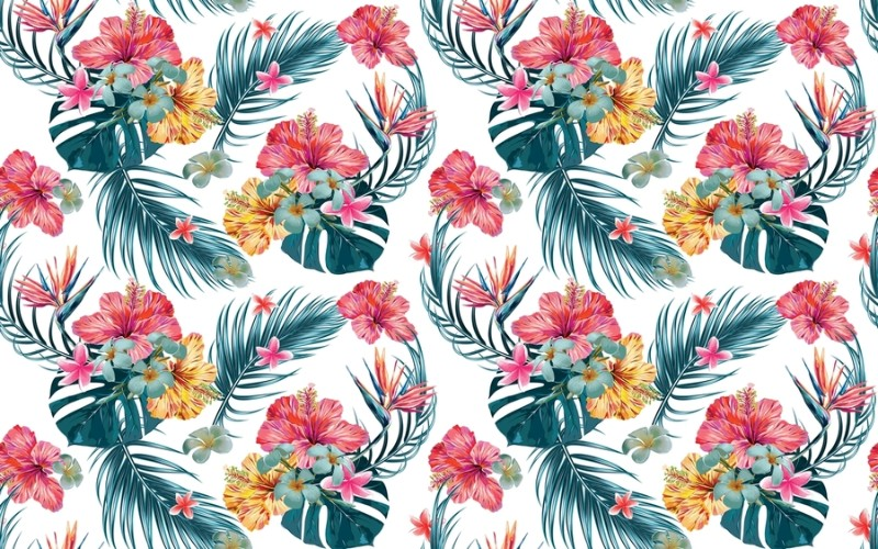 3D Фотообои «Тропические цветы»<br>kit: None; gender: None;
