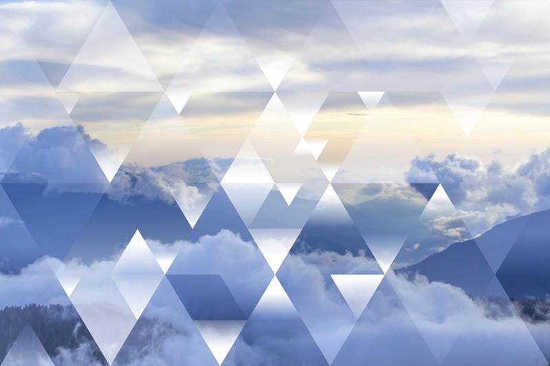 3D фотообои «Облачная геометрия» вид 1