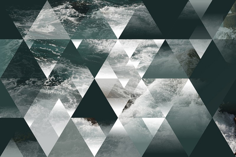 3D фотообои «Морская геометрия» вид 1