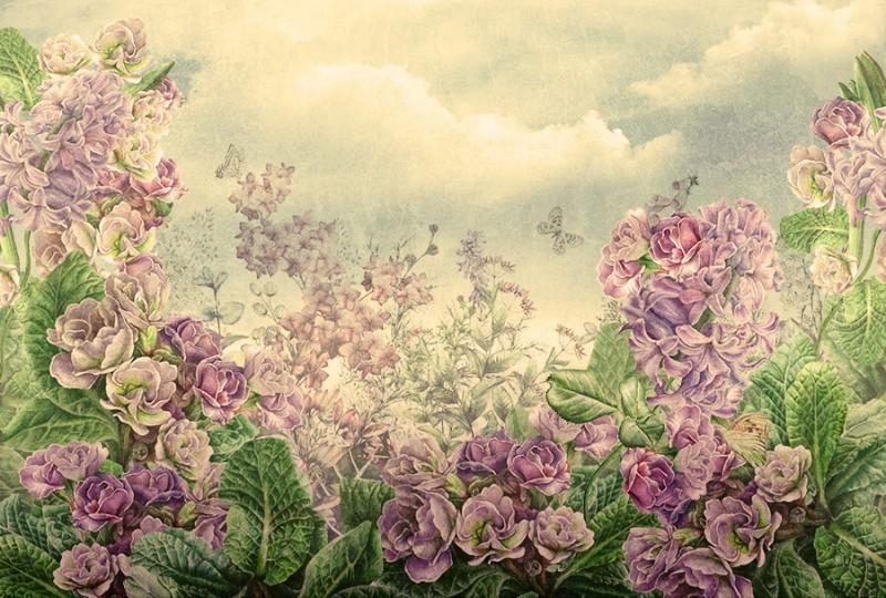 3D фотообои «Цветы на лугу» вид 1