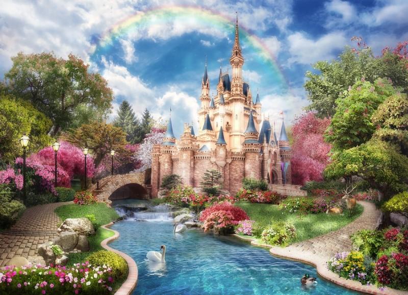 Детские 3D Фотообои «Замок принцессы»<br>kit: None; gender: None;
