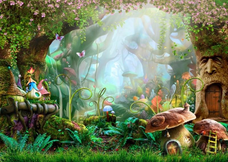 Детские 3D Фотообои «Сказочный дремучий лес»<br>kit: None; gender: None;