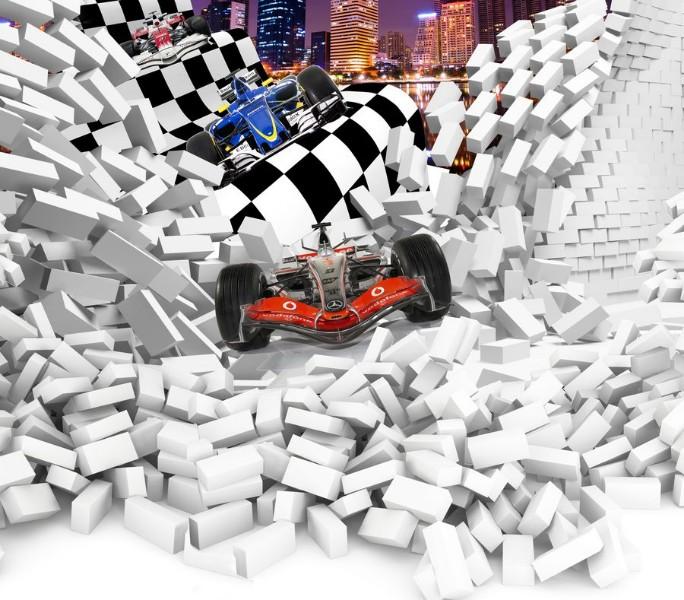 """Фотообои """"«Формула-1 сквозь стену»"""""""