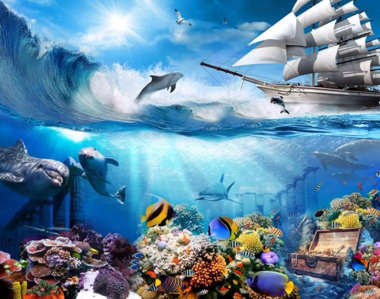 Детские 3D Фотообои «Морские глубины»<br>kit: None; gender: None;
