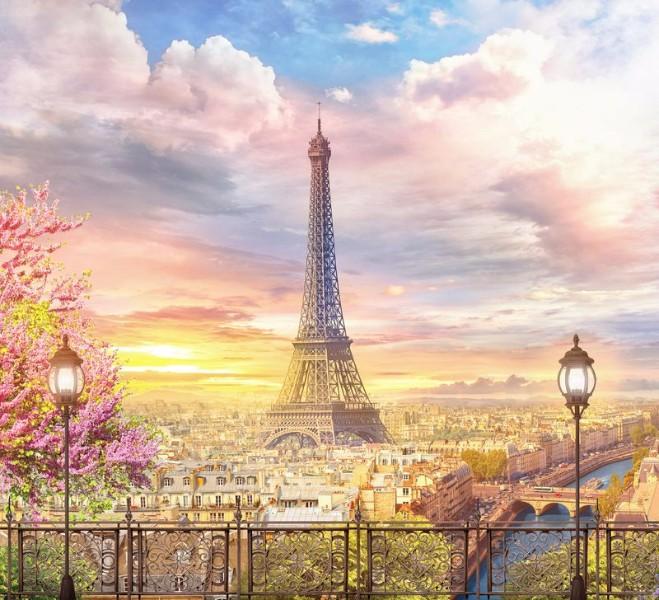 3D Фотообои «Весенний Париж»<br>kit: None; gender: None;