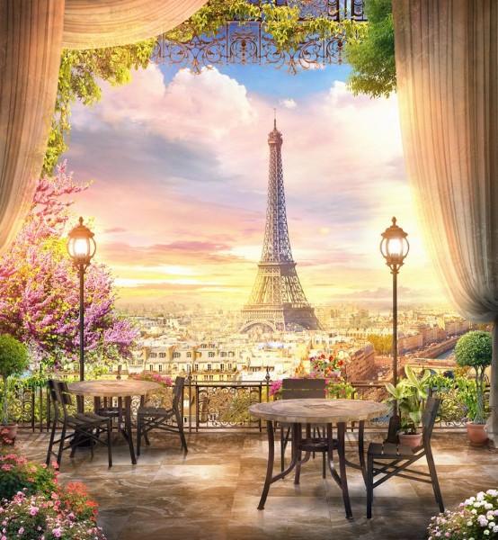 3D Фотообои «Парижский ресторанчик»<br>kit: None; gender: None;