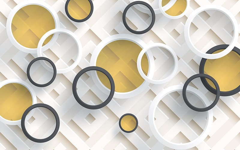 3D Фотообои «Геометрическая абстракция»<br>kit: None; gender: None;