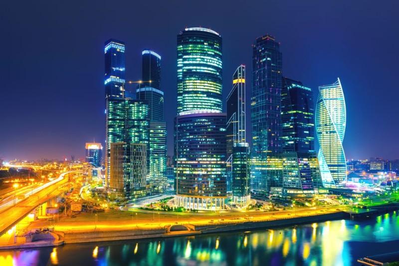"""Фотообои """"«Ночная Москва»"""""""