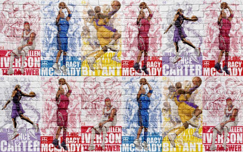 3D Фотообои «Баскетболисты»<br>kit: None; gender: None;