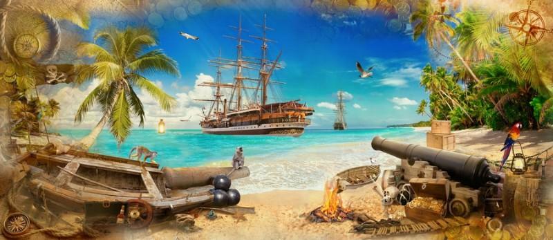"""Фотообои """"«Пираты на побережье»"""""""