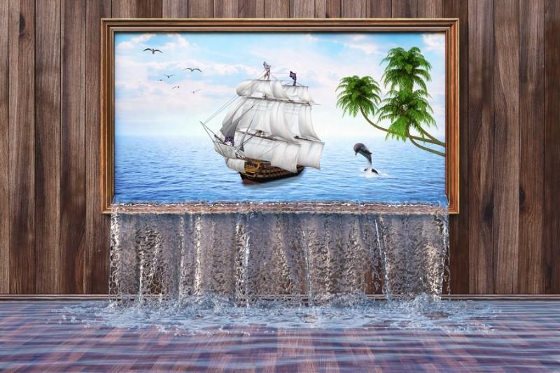 "Фотообои ""«Корабль из картины»"""