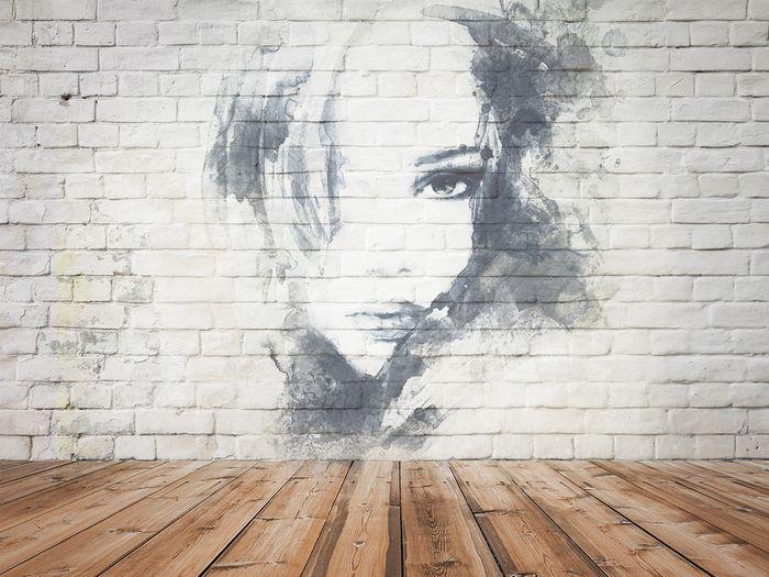 3D фотообои «Портрет на стене» вид 1