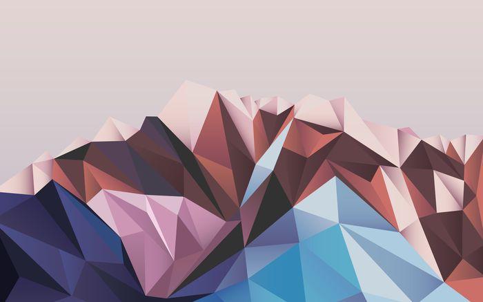 3D Фотообои «Полигональная гора»<br>kit: None; gender: None;