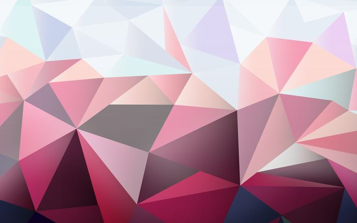 3D Фотообои «Полигоны в розовых тонах»<br>kit: None; gender: None;