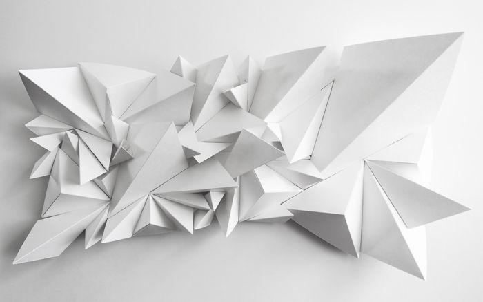 3D Фотообои «Острые полигоны»<br>kit: None; gender: None;