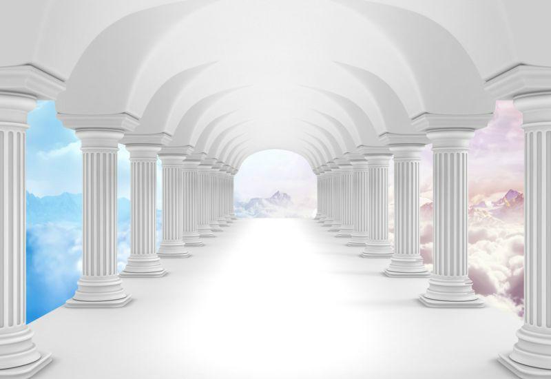 3D Фотообои «Терраса на Олимпе»<br>kit: None; gender: None;