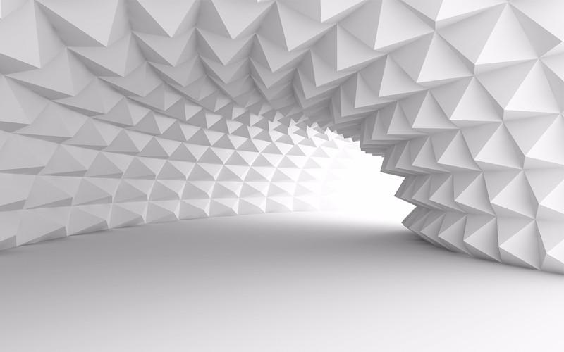3D Фотообои «Тоннель с острыми гранями»<br>kit: None; gender: None;