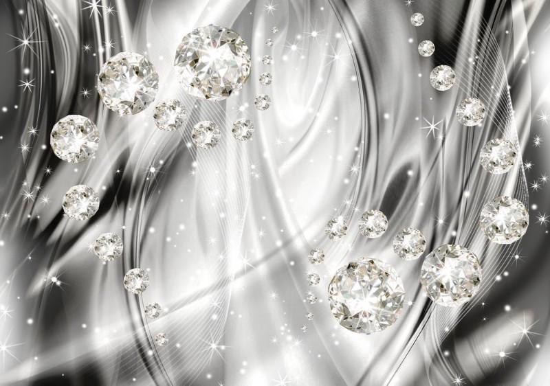 "Фотообои ""«Бриллианты на серебристом фоне»"""