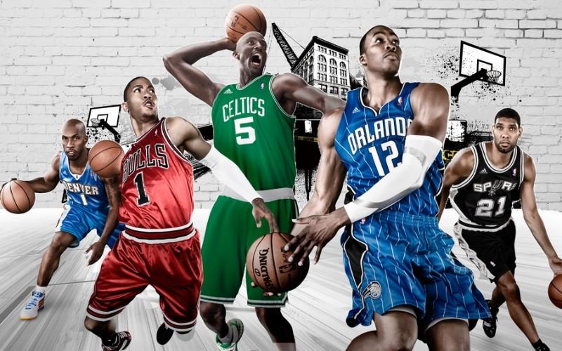 3D Фотообои «Звезды баскетбола»<br>kit: None; gender: None;
