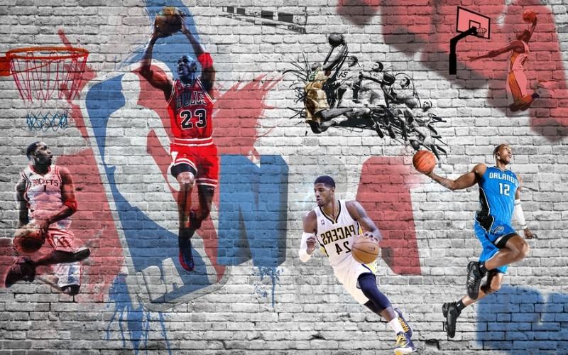 3D Фотообои «Игроки NBA»<br>kit: None; gender: None;