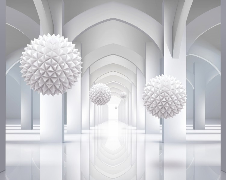 3D Фотообои Объемная инсталляция в арочном тоннеле 300x240Без категории<br><br>kit: None; gender: None;