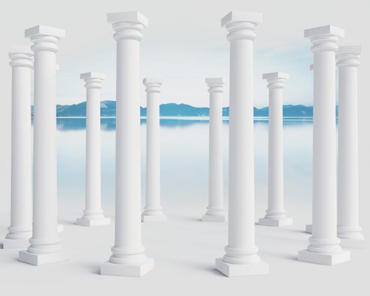 3D Фотообои Абстракция с колоннами 300x240