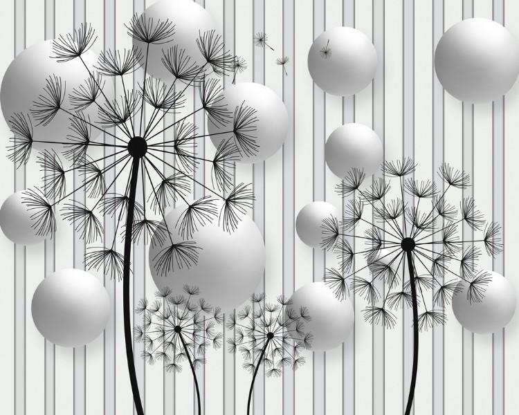 3D Фотообои Абстракция с одуванчиками 300x240