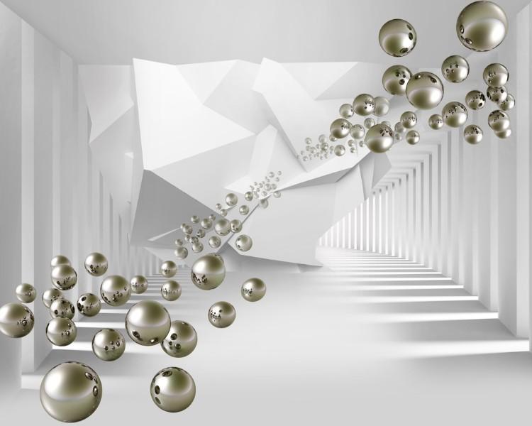 3D Фотообои Абстракция с пузырями 300x240