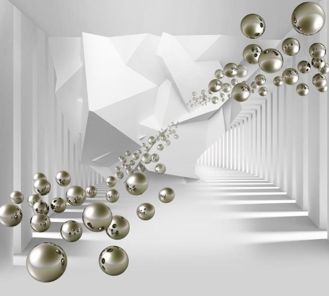 3D Фотообои Абстракция с пузырями 300x270
