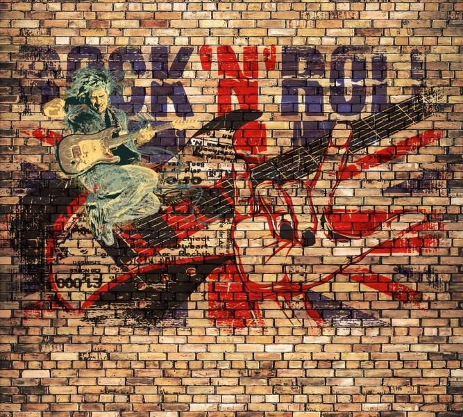 3D Фотообои Rock N Roll 300x270