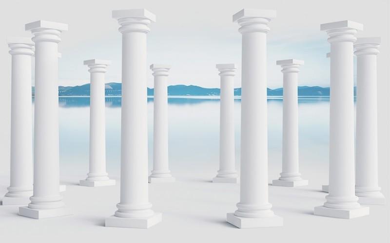3D Фотообои Абстракция с колоннами 400x250