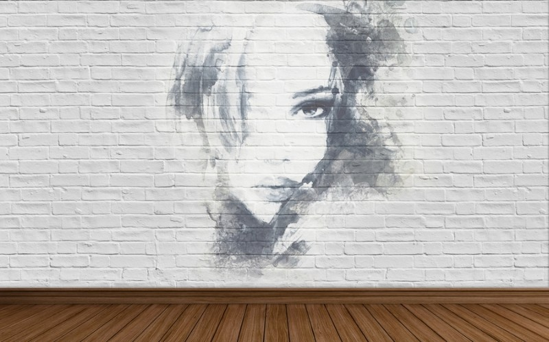 3D Фотообои Портрет на стене 400x250Без категории<br><br>kit: None; gender: None;