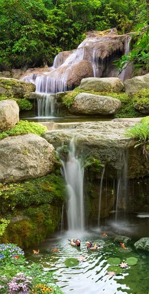 3D Фотообои «Уютный водопад»