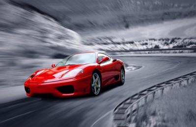 3D Ковер «Сумасшедшая скорость»