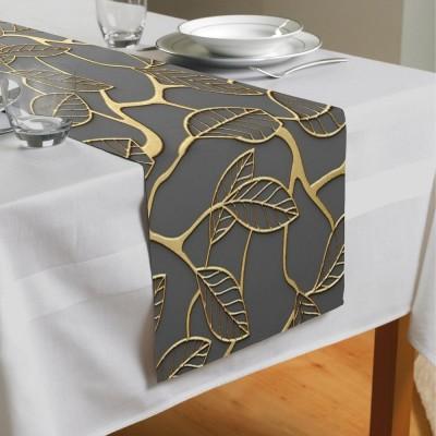 Сервировочная дорожка «Узор с золотыми листьями»