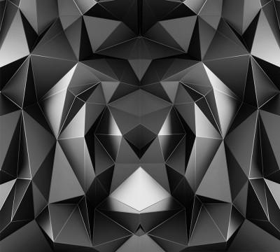 Фотошторы «Темные полигоны»