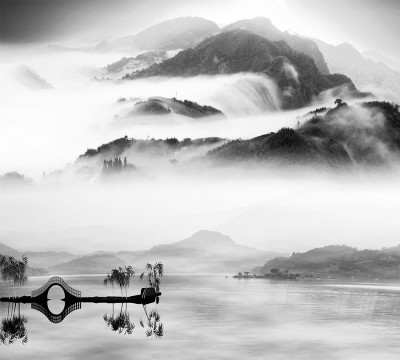 Фотошторы «Туманный пейзаж»