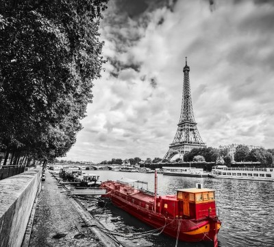 Фотошторы «Эйфелева башня у реки»