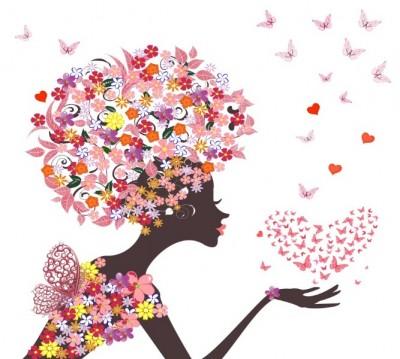 Фотошторы «Девушка-весна»