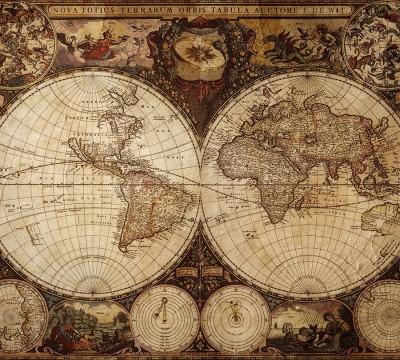 Фотошторы «Карта мира»