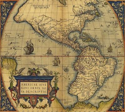 Фотошторы «Старая карта Америки»
