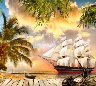 Фотошторы «Пиратская гавань»
