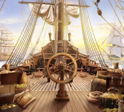 Фотошторы «Штурвал пиратского корабля»